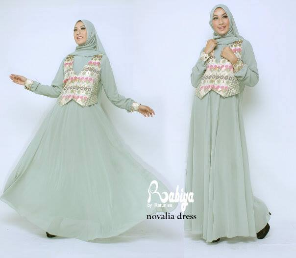 Busana Muslim Terbaru Novalia Dress by Rabiya Green