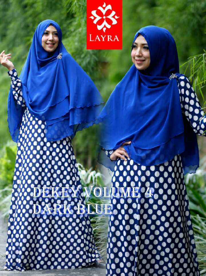 Model Terbaru Busana De'key Syar'i by Layra Dark Blue