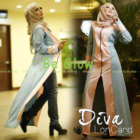 Busana Muslim Pesta Diva By Be Glow Baby Blue Pink