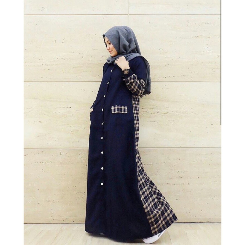 dress_gamis_busana_muslim_busui_modern_alina_by_FM_fashion_navy
