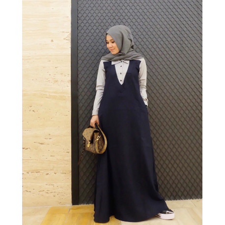 dress_gamis_busana_muslim_busui_modern_vania_by_FM_fashion_black