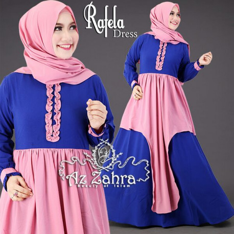 Rafela Dress Blue Pink
