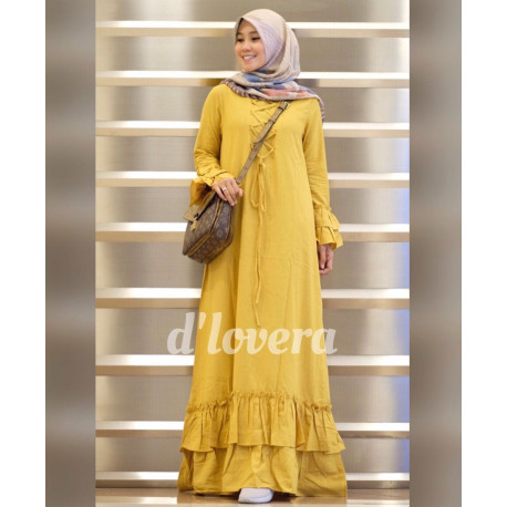 gamis modern zivana dress yellow