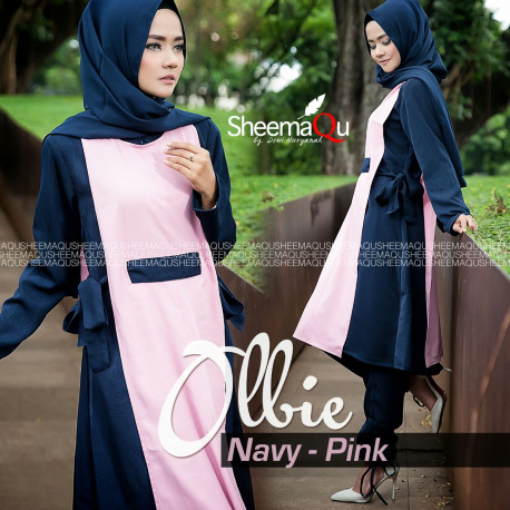 ollbie by sheemaqu Navy pink