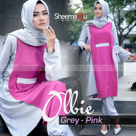ollbie by sheemaqu grey pink