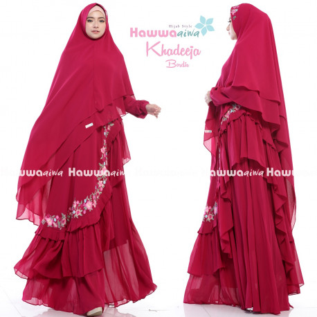 Khadeeja Bordir Red
