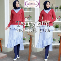 Terrykha Red soft blue