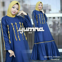 Zahra Dress Navy Blue