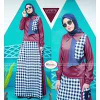 Khatartan Dress Maroon