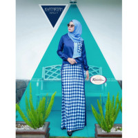 Khatartan Dress Navy