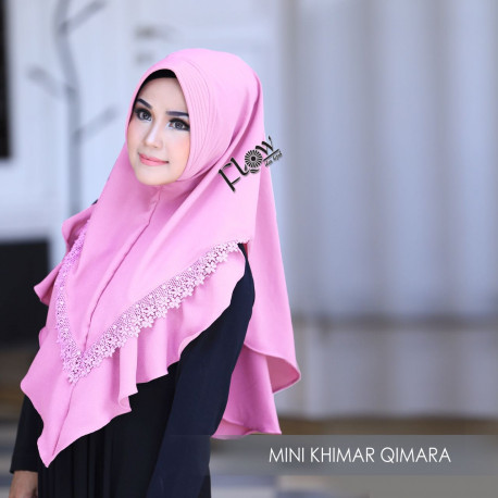 Mini Khimar Qimara Fresh Pink