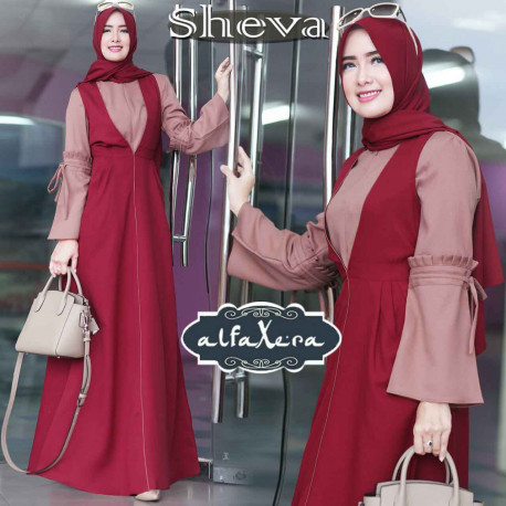 Sheva Dress Maroon