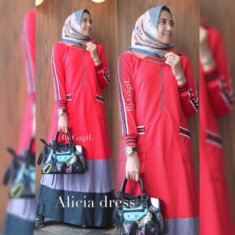 Alicia Dress Red