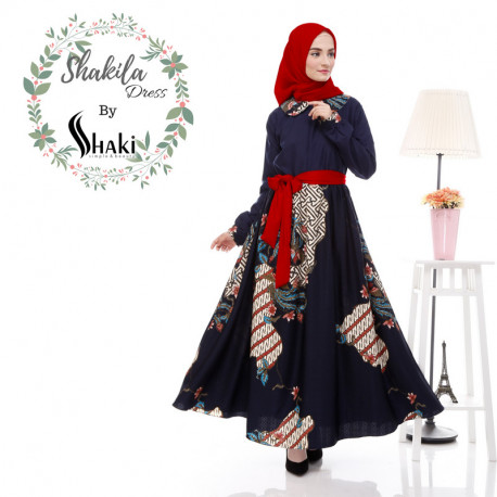 Shakila Dress Navy