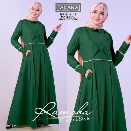 Ramsha Dress Green
