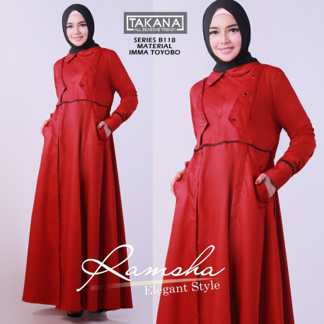 Ramsha Dress Red