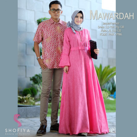 New Mawardah Couple Pink