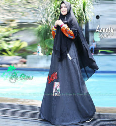 Lovely Set Syari Black