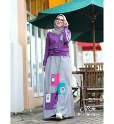 Alifa by Adhadia Purple Grey