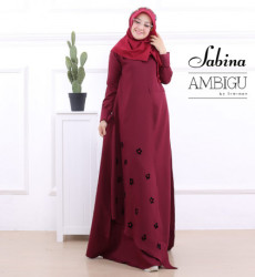 Sabina Dress Maroon